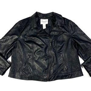 American Rag Faux Leather Zip Moto Jacket